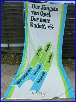 NEU + ORIGINAL Opel Kadett A B C D E Fahne Reklame Banner Werbung