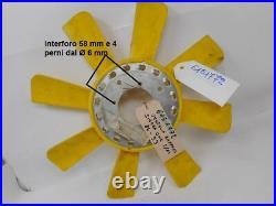 Ventola radiatore raffredamento motore 8 pale gialle motore OHC 2,0 Ford Sierra